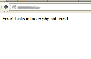 Error! Links in footer.php not found.